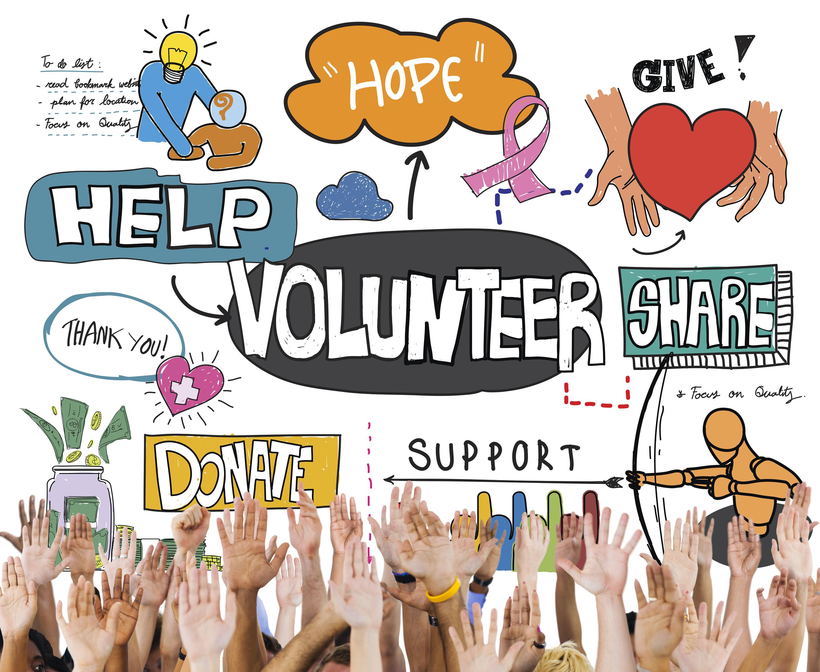 Paid Volunteers Clip Art